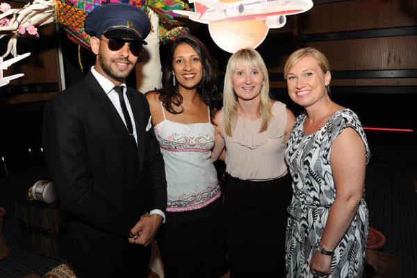 23 Huni Jalaf, Anita Champaneri (Delicious PR), Francessa Baller, Justine Howl (Birmingham Airport)