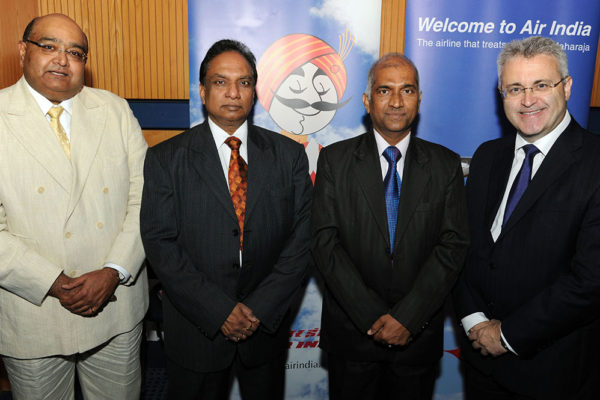 Uday Dholakia_Bham Airport, Kailash Singh_Air India, Indian High Commissioner Mr Ramalingham, Paul Kehoe_CEO_Bham Airport
